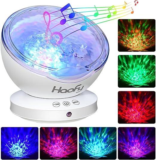 Luz de Proyector, Haofy Ocean Wave proyector con mini reproductor ...