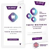 Teeth Whitening Strips by DrDent | 1 Hour Express | No Sensitivity | Peroxide-Free | 3D Teeth Whitening Kit (28 Whitening Strips) | 100% Money Back Guarantee