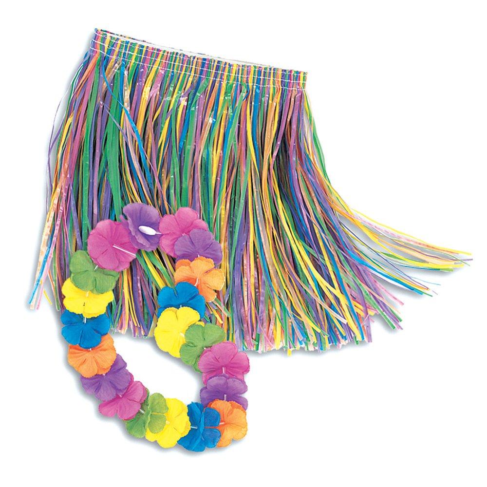 sc 1 st  Amazon.com & Amazon.com: Child Lei u0026 Grass Skirt Hula Set: Kitchen u0026 Dining