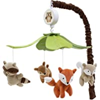 Lambs & Ivy Woodland Tales Multicolor Forest Animals Musical Baby Crib Mobile