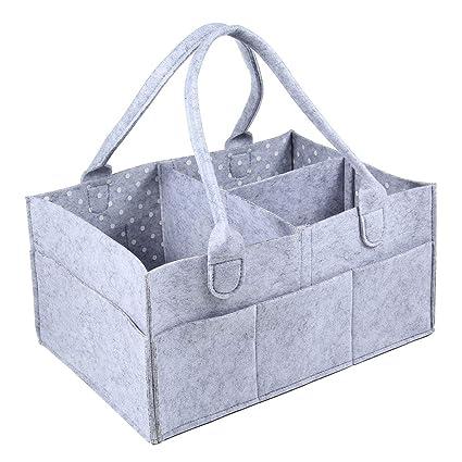 Organizador de pañales para bebé, bolsa de pañales Aolvo, organizador de pañales para cuna