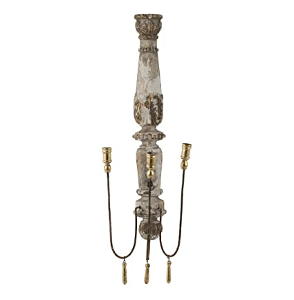 French Country Chateau Pinot 3 Taper Candle Wall Sconce
