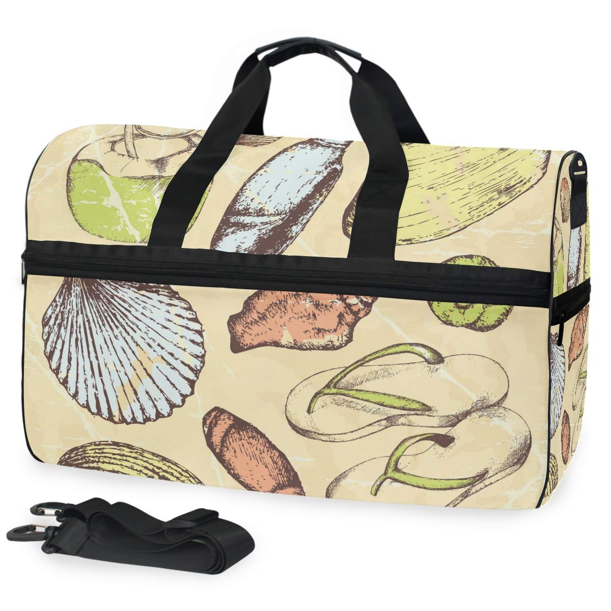 Vacation Gym Travel Duffel Bag Tropical Travel Set Waterproof Lightweight Luggage bag for Sports