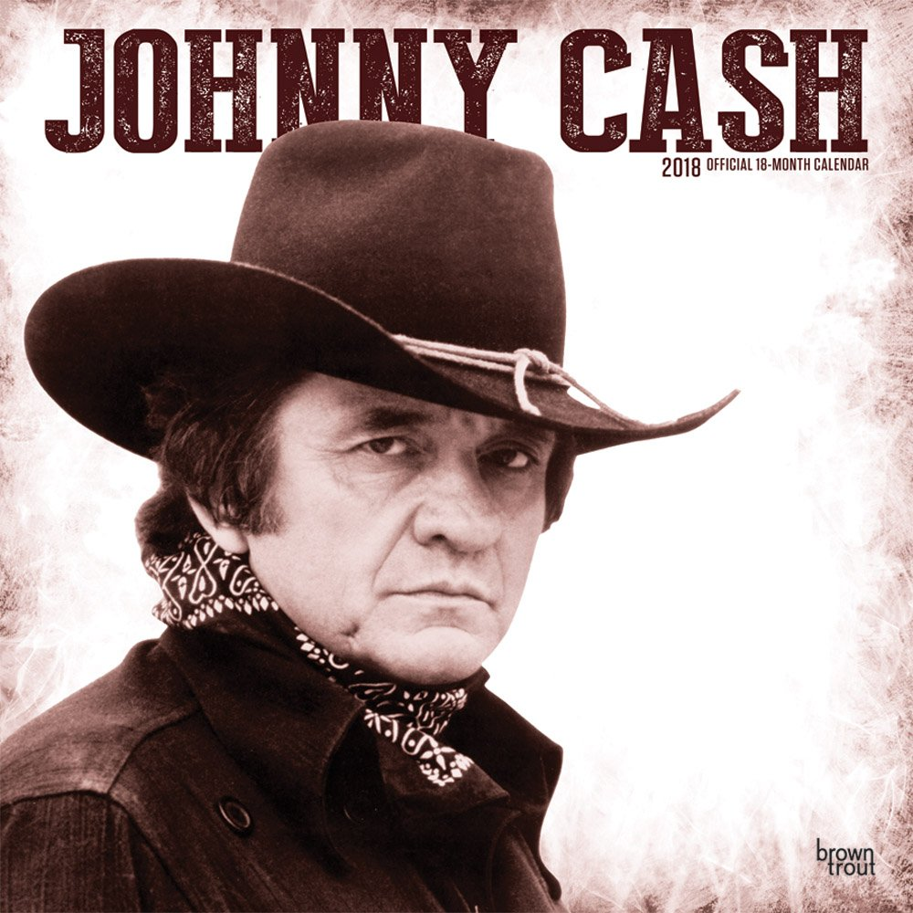 Johnny Cash 2018 12 x 12 Inch Monthly Square Wall Calendar, Music Pop Country Singer Songwriter Celebrity (Multilingual Edition) by Brown Trout Publishing Co.