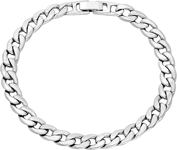 24k Yellow Gold Plated Flat Curb Chain Bracelet 7-11 The Bling Factory 2.2mm High-Polished 0.25 mils 6 microns