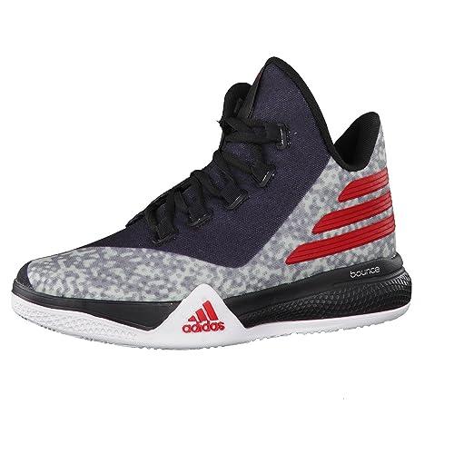 adidas Light EM UP 2 J, Zapatillas de Baloncesto Unisex Niños, Gris/Rojo / Negro (Onisua/Escarl / Negbas), 38 EU: Amazon.es: Zapatos y complementos