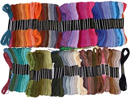 150 Silk Rayon Stranded Skeins Embroidery Thread 150 Beautiful colours Bargain