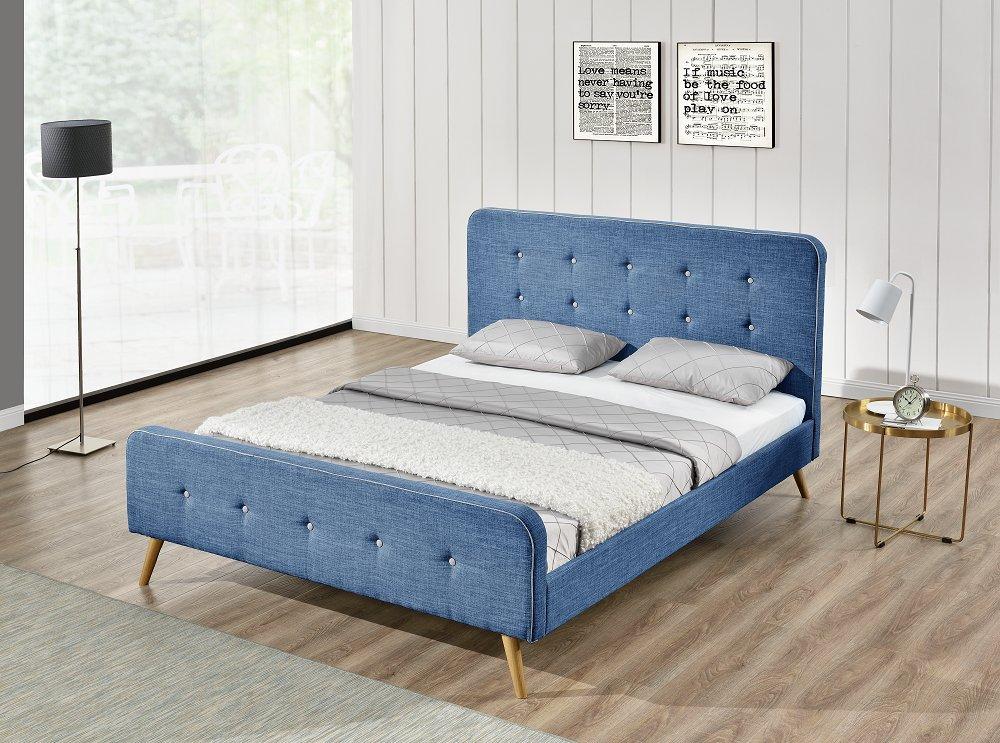Natt Bett Stoff Leinen Shutter Blue Hellblau 180 X 200 Cm Gunstig Kaufen