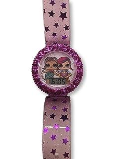 Flashing Lights & Icon - LCD Digital Watch for Girls