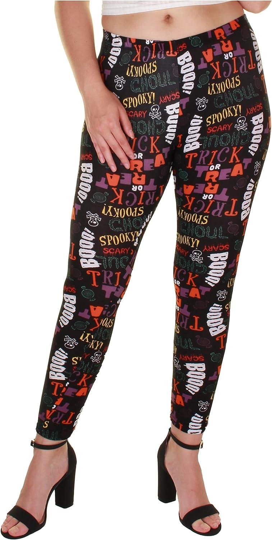 Gilbin Womens Halloween Print High Waist Leggings Stretch Full Length Tights Workout Pants