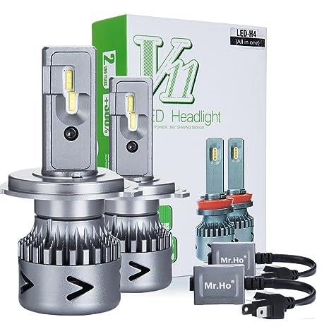 Mr.Ho 2 * H4/9003/HB2 LED Faro Bombillas LED Coche Kit