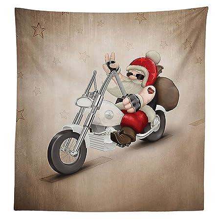 vipsung Decoraciones de Navidad Mantel Rock Grunge Cool Papá Noel ...
