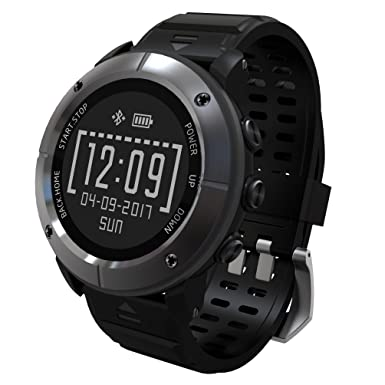 Reloj inteligente con GPS de alta precisión para senderismo, 100 %, diseño unisex, 10 modos de deporte, monitor de frecuencia cardiaca, SOS, ...