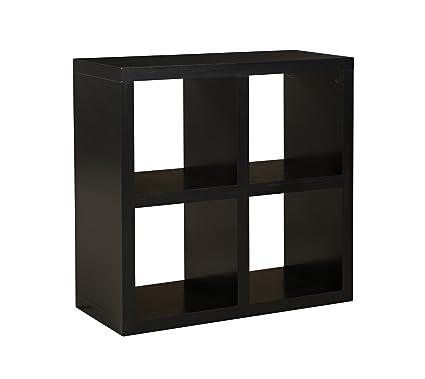 Amazon Com Linon Home Decor Hollowcore 4 Cube Square Bookcase