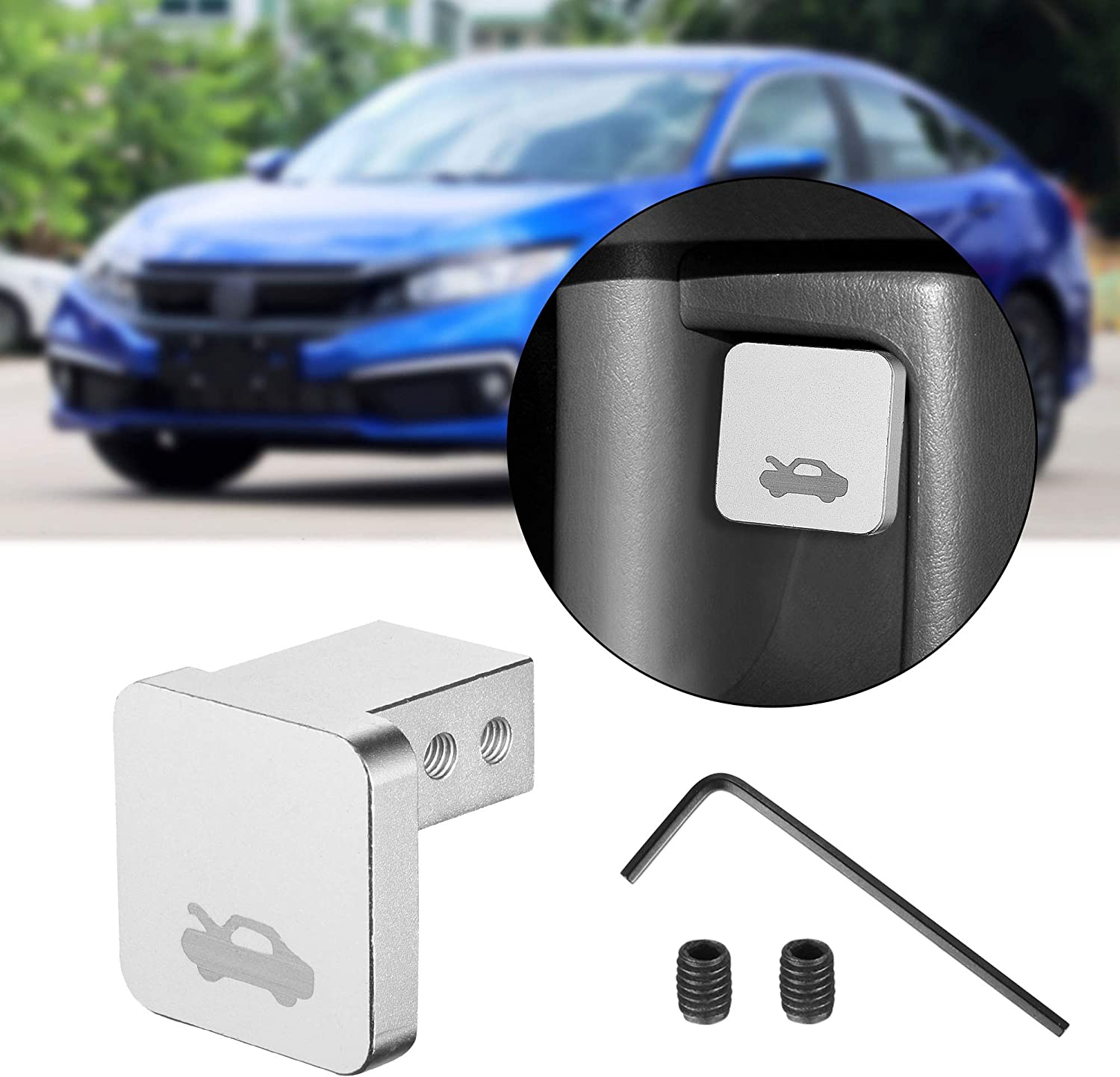 for Ridgeline 2006-2014 Aluminum Release Cable Replacement TOMALL Hood Release Latch Handle Repair Kit Compatible with Honda Civic 1996-2011 for CR-V 1997-2006 Black for Element 2003-2011