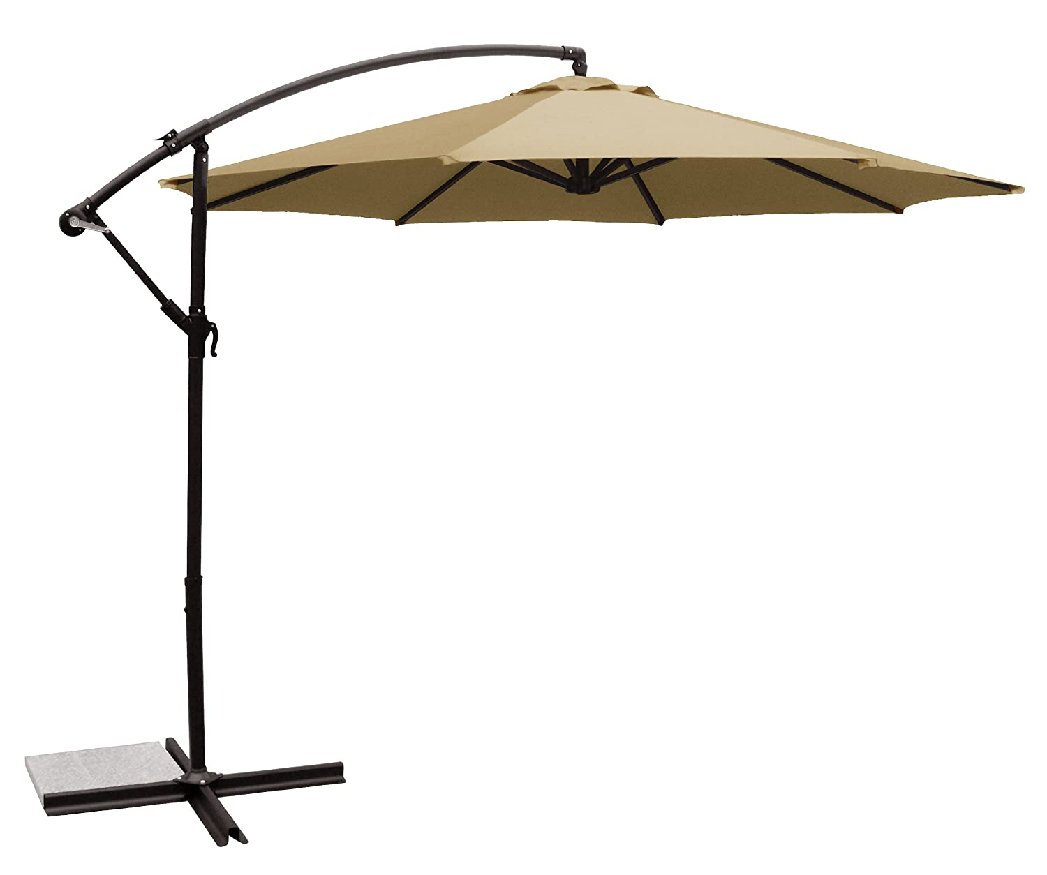 offset umbrella outdoor hu market red itm umbrellas patio hanging