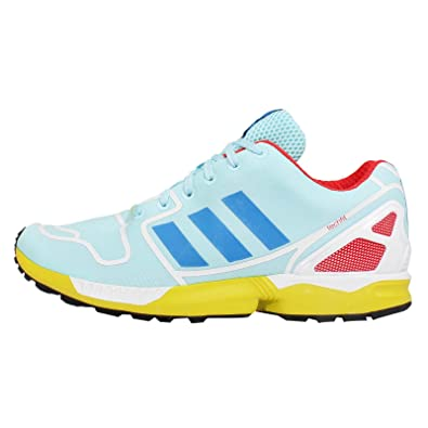 wholesale dealer 4a0b7 a5802 Amazon.com | Adidas Men's ZX Flux, AQUA/BLUE/WHITE/YELLOW ...