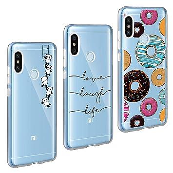AROYI Xiaomi Mi A2 Lite Funda, Carcasa Redmi 6 Pro(ÑNo para Xiaomi Mi A2) Flexible Ultra Slim Transparente Soft TPU Silicone Back Bumper de Alta ...