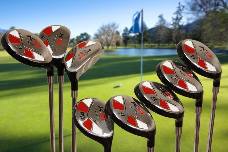 "Tall Senior Golf Hybrids Big +1'' Longer Than Standard Length (Plus One Inch Longer) Set All Complete Full Set, Which Includes: #3, 4, 5, 6, 7, 8, 9, Pw Senior Flex Right Handed New Rescue Utility ""A"" Flex Club by Majek K5 Senior All True Hybrid Set (Image #2)"
