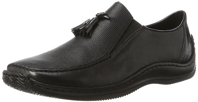 Womens N3291 Loafers, Black, 3.5 UK Rieker