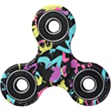 EVERMARKET New Style Premium Camouflage Tri-Spinner Fidget Toy With Premium Stainless Steel Bearing,Graffiti