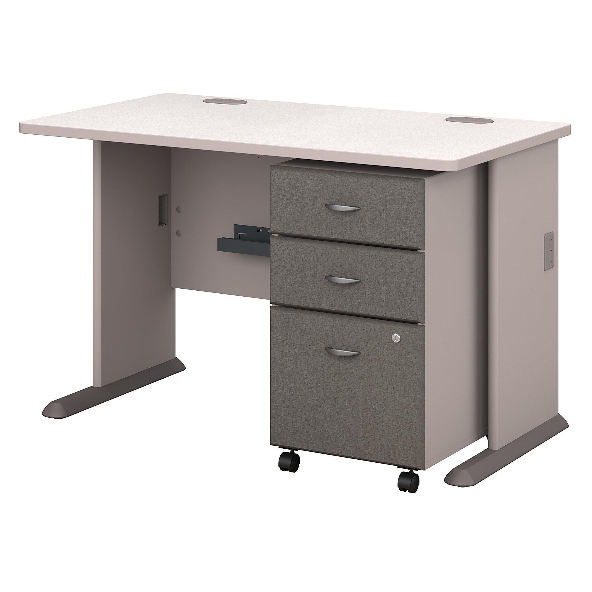 Bush Business Furniture Series A 48W Desk with Mobile File Cabinet