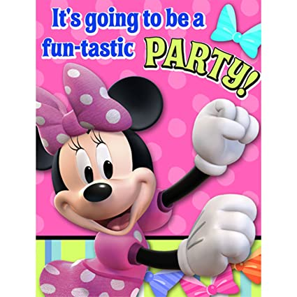 Amazon Com Minnie Mouse Party Invitations Minnie Invitations 8