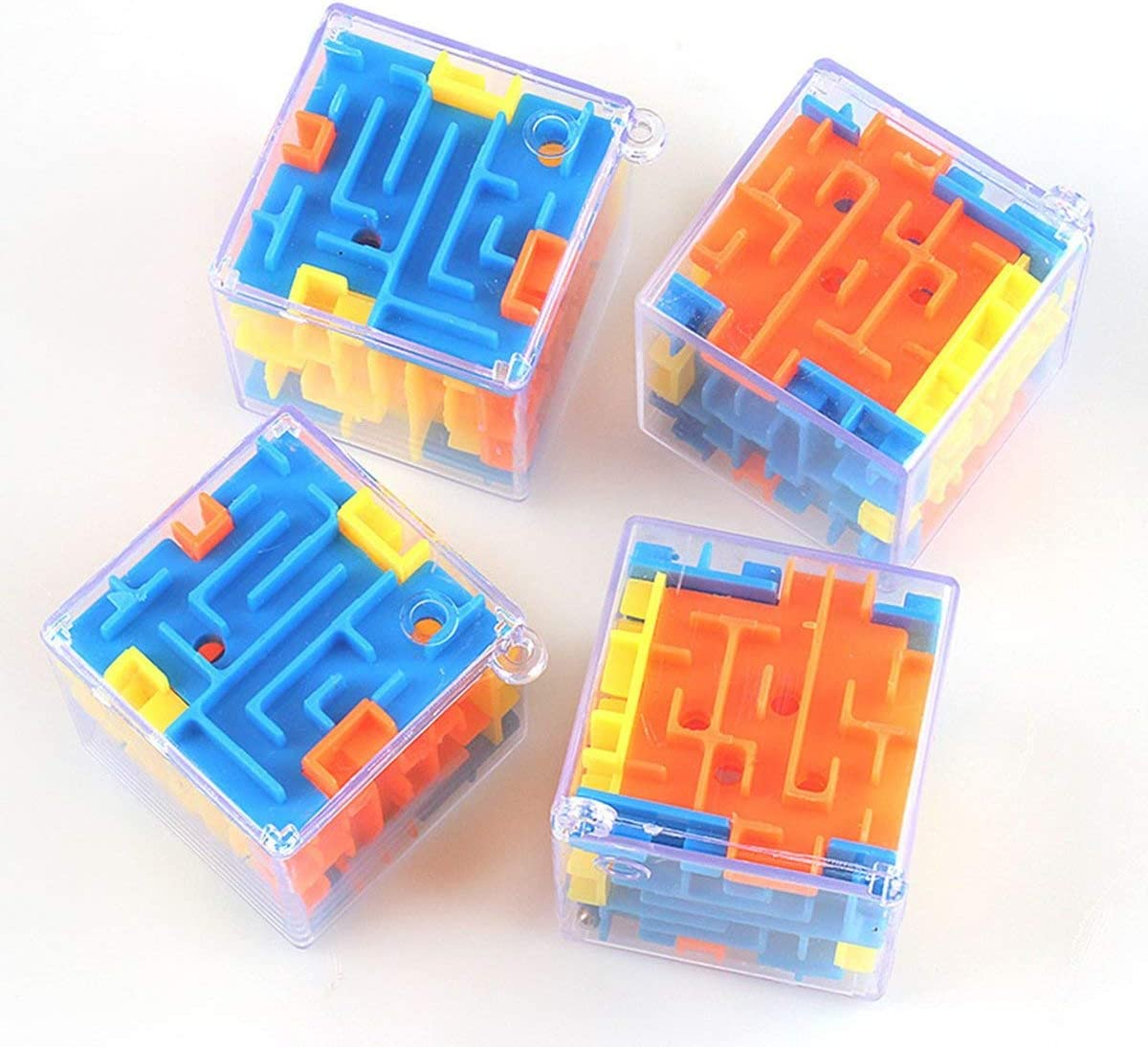 Greatangle Piccolo Labirinto Tridimensionale Labirinto Magico Universale 3D Giocattolo di intelligenza per Bambini Giocattoli educativi Regali per Bambini Portatili cromatici