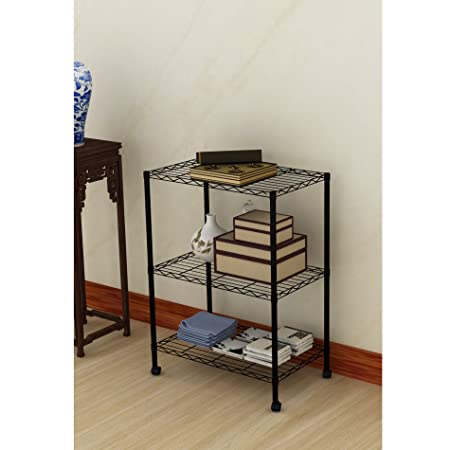 EBS 3 Tier Wire Shelving Storage Rack Steel Metal Shelf Unit For Home  Kitchen Garage Workplace