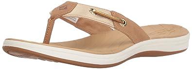 7291d32c9 Sperry Women s Seabrook Surf Metallic Flat Sandal tan 11 Medium US