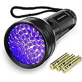 Vansky51LED 紫外線ブラックライト UVライト懐中電灯 レジン用硬化ライト ペットのオシッコ汚れ対策に(ブラック)