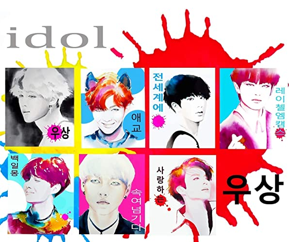 Amazon com: BTS Set of K Pop Mini Print Greeting Cards Bangtan Boys