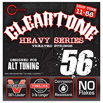 Cleartone 9456 - Cuerdas de guitarra eléctrica, calibre 11-56: Amazon.es: Instrumentos musicales