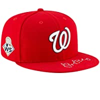 $299 » Stephen Strasburg Washington Nationals Autographed 2019 World Series Champions New Era Baseball Cap - Fanatics Authentic Certified