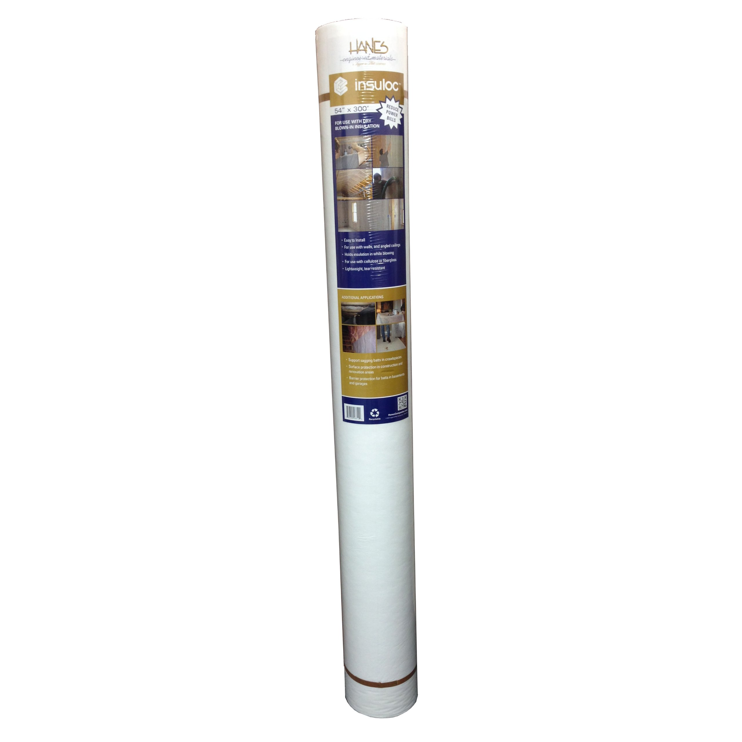 Hanes Geo Components 48311 Insuloc Wall and Ceiling Insulation Fabric, 4.5-Feet x 300-Feet by Hanes Geo Components