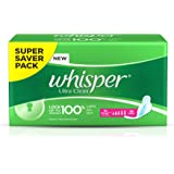 Whisper Ultra Sanitary Pads - XL Wings (30 piece Pack)