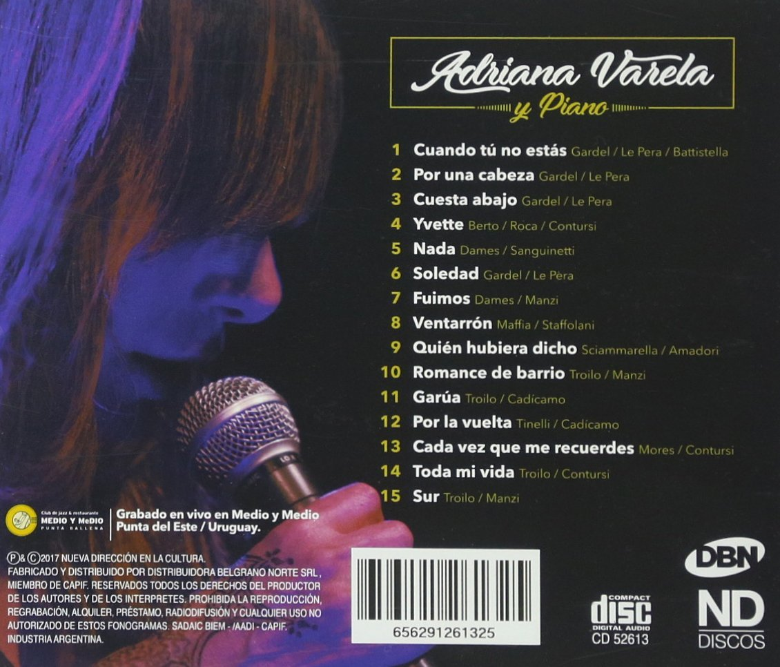 Adriana Varela Y Piano: Adriana Varela: Amazon.es: Música