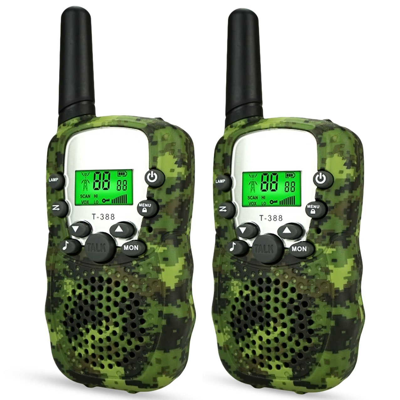 DIMY Walkie Talkies for Kids 2 Mile Range Built in Flash Light TM388 Best Gifts