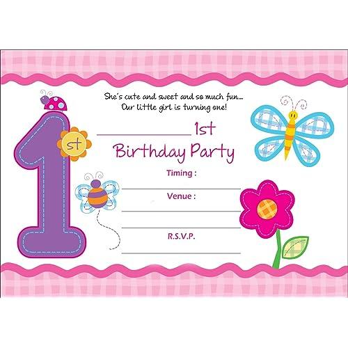 Birthday invitation card buy birthday invitation card online at askprints girls birthday metallic invitation card with envelope 5x7 inches pink bpc filmwisefo