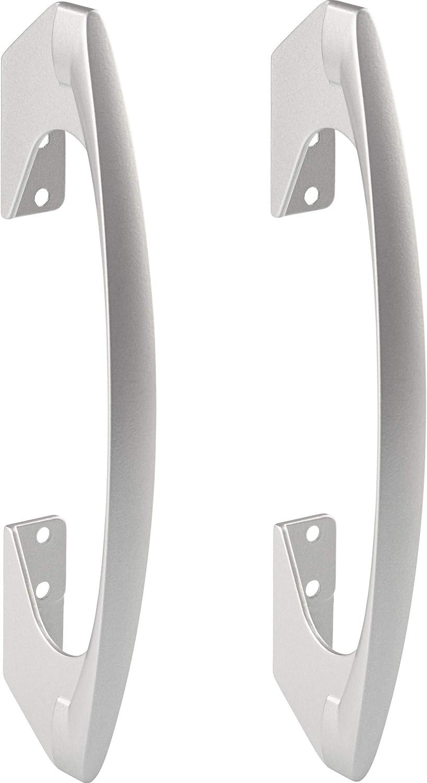Tiradores de bar Gedotec para puertas correderas plegables correderas - SOMANA | Tirador para puerta corredera plegable con distancia entre agujeros: 96 y 128 mm | metal, plata anodizada 2 piezas: Amazon.es: Bricolaje y herramientas