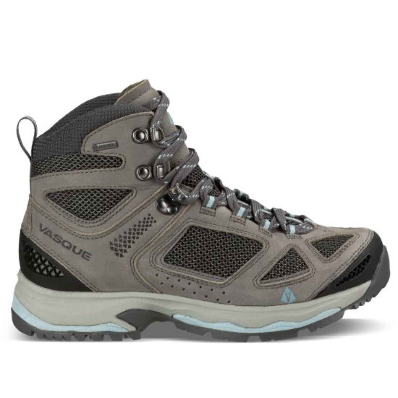 Vasque Women's Breeze III GTX Hiking Boots, Wide, Gargoyle/Stone Blue Black 9