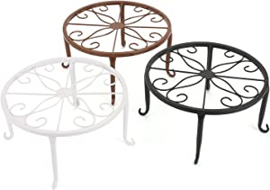 Tosnail 3 Pack Metal Potted Plant Stands Plant Holder (Assorted)