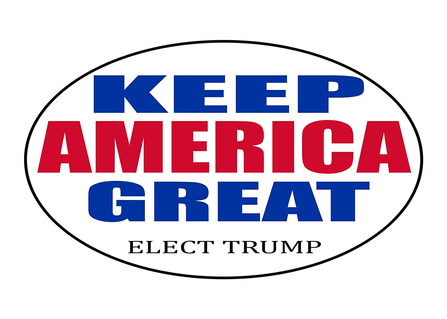 Keep America Great President Donald Trump 2020 Election 5x3 Inch Oval Bumper Sticker Car Decal Conservative Republican