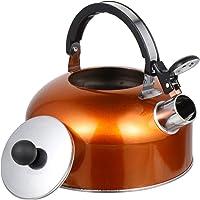 Hemoton 2,5 l Soba Üstü Düdüklü Su Isıtıcısı Paslanmaz Çelik Çay Isıtıcısı Cool Touch Ergonomik Saplı Kaynatılmış Su…