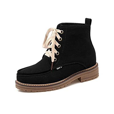 Colnsky Autunm &Winter Concise Short Ankle Boots CN Size 34-43 Plus Size Lace Up Martin Boots New Style