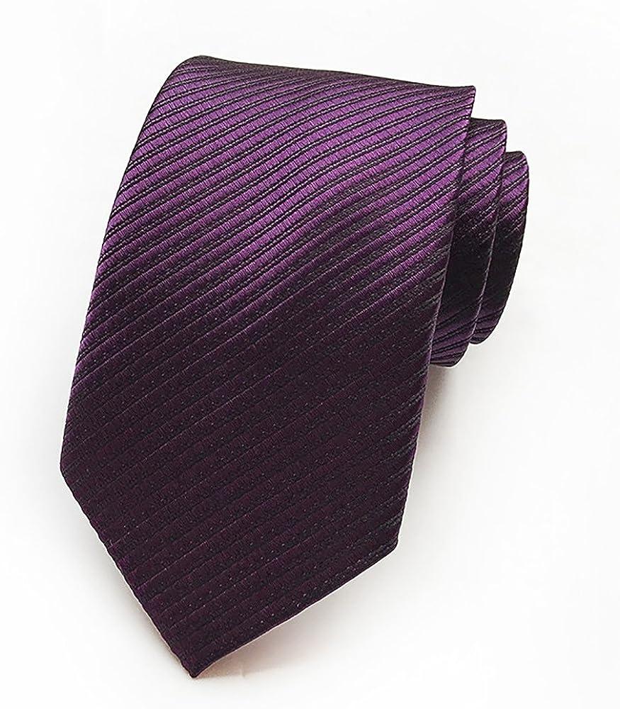 Nuevo diseño de rayas morado para hombre corbata traje formal ...