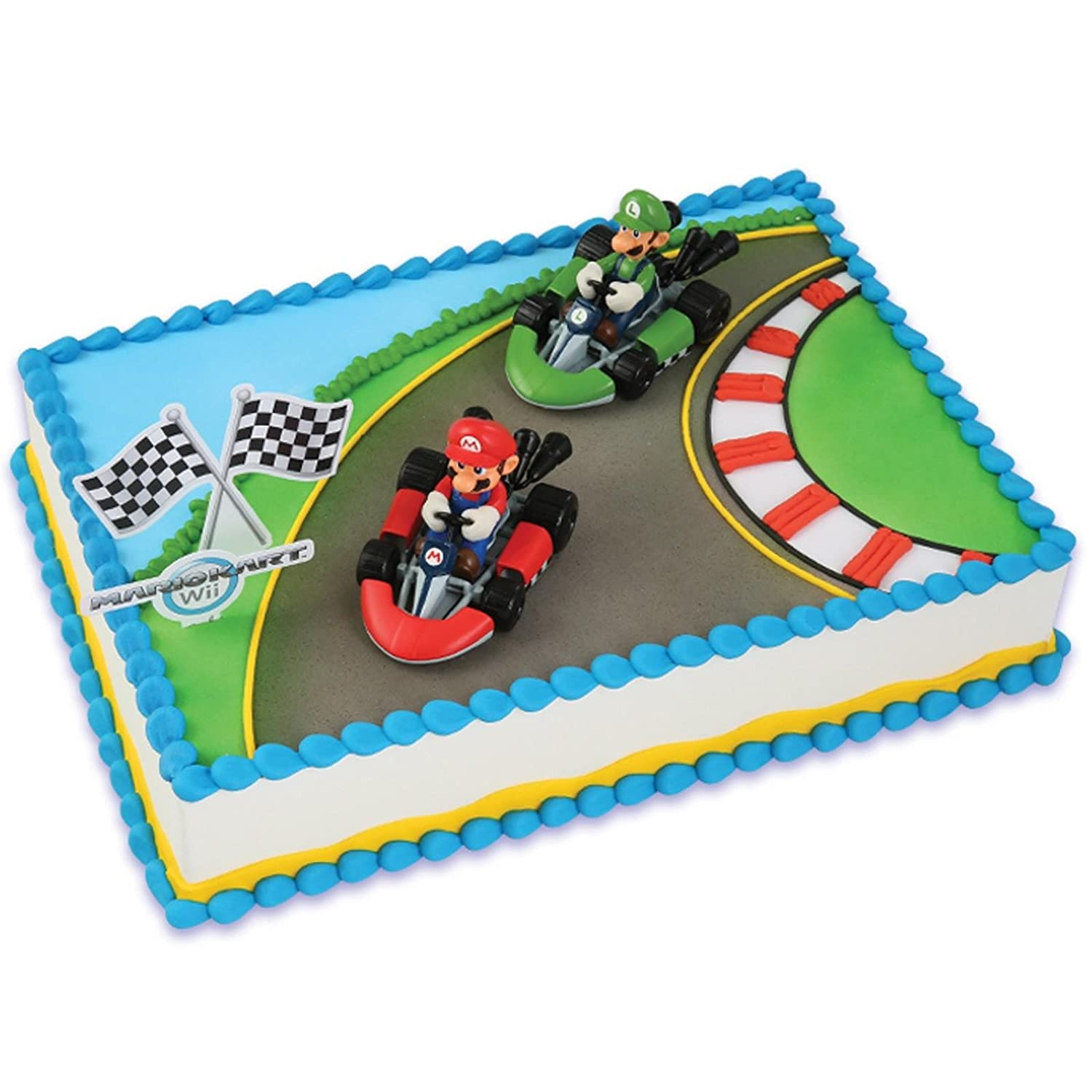 Amazon Mario Kart Wii Cake Topper 4 Pieces Toys Games