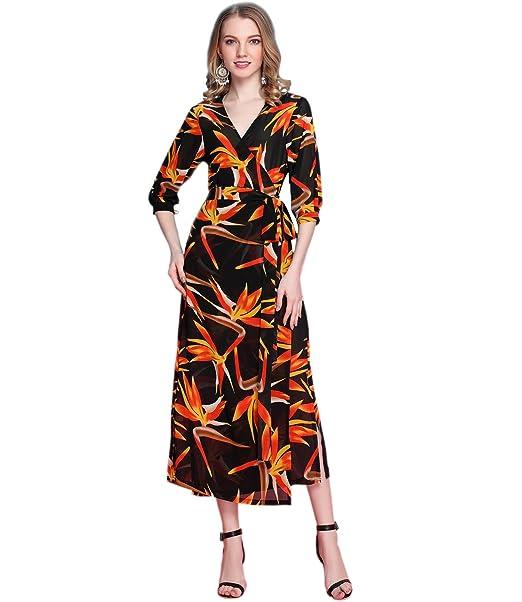 Medeshe Vestido - kimono - para mujer Negro negro Longitud: 115 cm