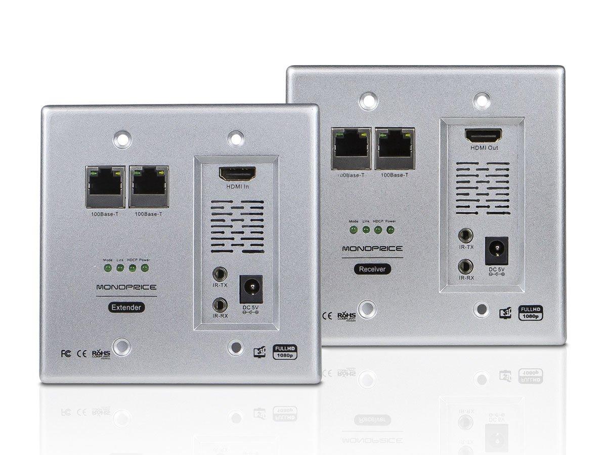 Monoprice 110224 HDBaseT Wall Plate Extender Kit