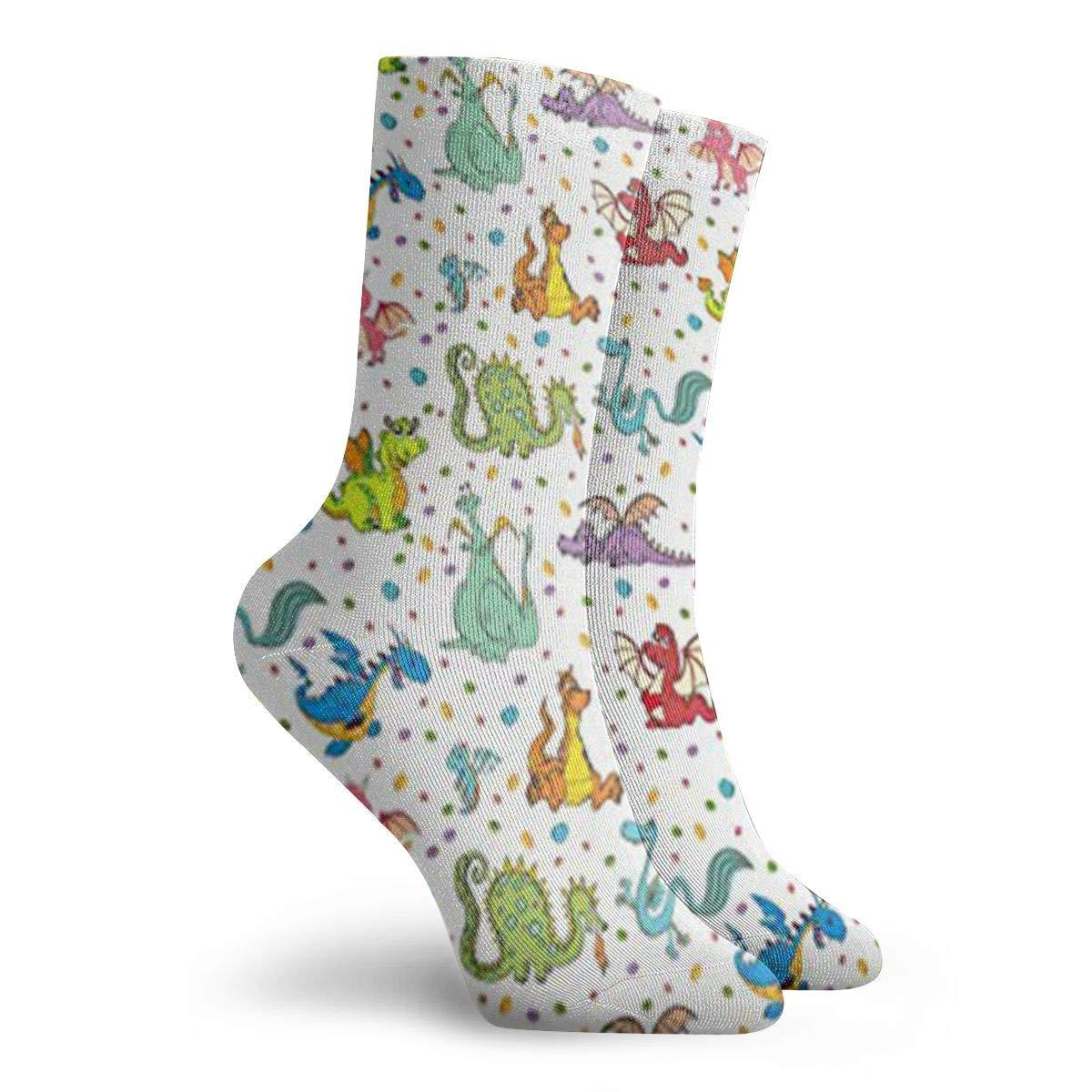 Dragons Unisex Funny Casual Crew Socks Athletic Socks For Boys Girls Kids Teenagers